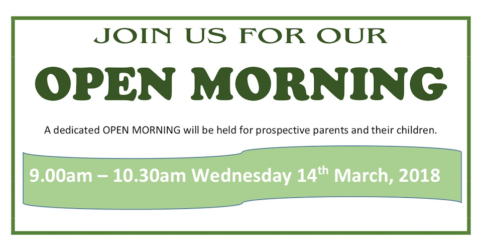 2018 Open Morning Banner